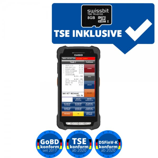CASIO IT-G400 Mobile Kasse Taxonomie TSE